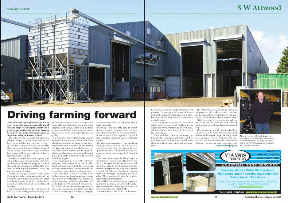 Attwoods South East Farmer Article